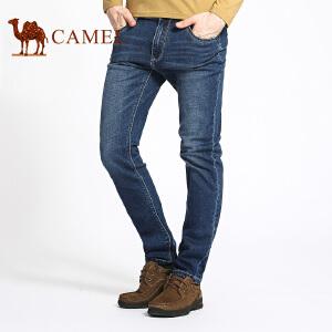 骆驼男装 春秋季时尚猫须修身小脚牛仔裤中腰休闲长裤子男
