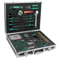 老A 55件家用工具套装铝合金箱工具组套*必备套装 LA101204