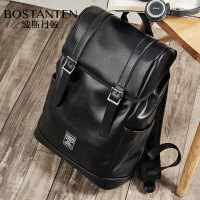 【1件2折】波斯丹顿双肩包男时尚潮流韩版电脑背包休闲大容量旅行包轻便潮牌