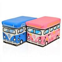 博纳屋 公交车皮收纳凳 大号有盖多功能储物凳 儿童玩具收纳箱 JJN02-21.