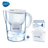 碧然德(BRITA) 过滤净水器 家用滤水壶 净水壶 金典 Marella3.5L白色 1壶4芯