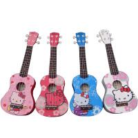 尤克里里UKULELE小四弦琴 小猫图案椴木乌克丽丽小吉他 21寸