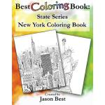 预订 Best Coloring Book: State Series - New York Coloring Boo
