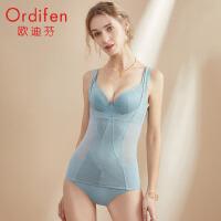欧迪芬塑身美体女21年春夏轻薄束身高弹力透气蕾丝网纱修身美体塑身上衣 XE1101