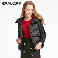 ERAL/艾莱依冬装韩版修身连帽轻薄新A字羽绒服女短款12015-EDAA