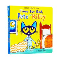 进口英文原版 Time for Bed, Pete the Kitty 小皮特猫,该睡觉了