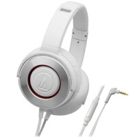 铁三角(Audio-technica)WS550iS ATH-WS550iS 便携式智能手机耳麦 白色/黑金色