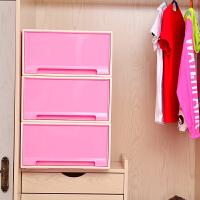 [当当自营]百草园(bicoy)塑料收纳箱 可组合收纳柜抽屉柜 抽屉式储物柜 40L 1个装 樱花粉
