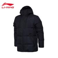 李宁短羽绒服男士训练系列保暖冬季机能90%白鸭绒运动服AYMM165