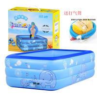 宝宝婴幼儿童充气游泳池家庭戏水池波波池宝宝大型海洋球池戏水玩具(送打气筒)