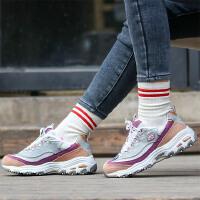 【斯凯奇大牌日】Skechers斯凯奇女鞋新款D'LITES厚底增高熊猫鞋复古老爹鞋 13146