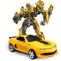 遥控汽车变形车机器人金刚赛车充电摇控车无线儿童男孩玩具车4岁