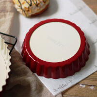烘焙模具 阳晨金色红色不粘活底波浪高圆盘方盘5 8 10寸菊花派盘