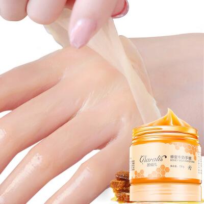 笛爱儿手膜蜂蜜牛奶手蜡嫩白去死皮角质手部护理滋润保湿手蜡150g