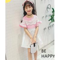 夏装韩版童装儿童蕾丝公主裙女童连衣裙中大童夏季小女孩裙子 可礼品卡支付