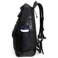 书包 潮牌ins 火书包双肩包女大容量旅行包男韩版双肩背包电脑包 黑色