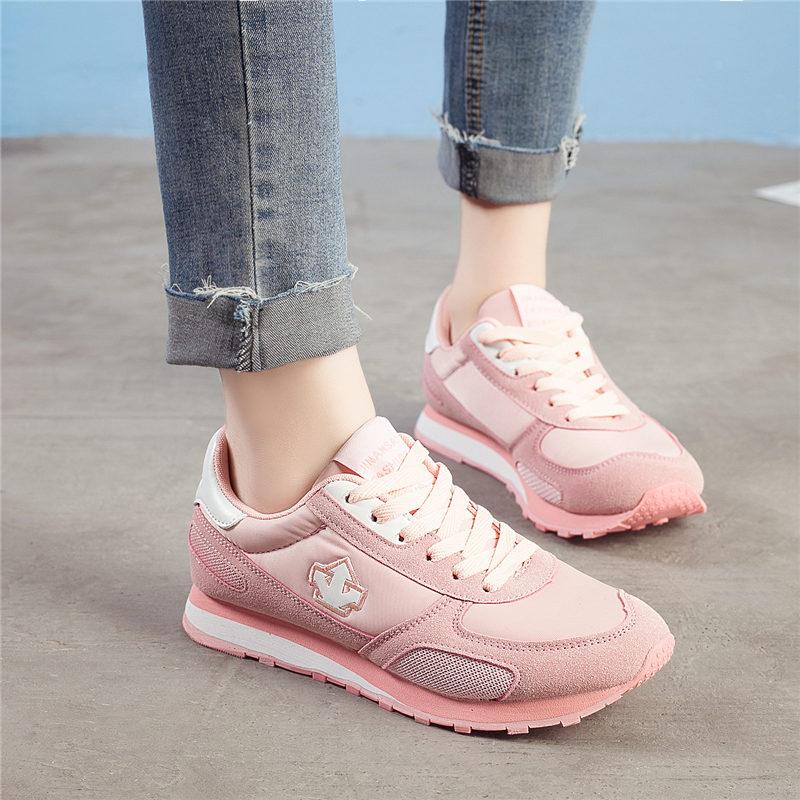 ELEISE美国艾蕾莎新品059-9627韩版混合材质女士休闲鞋