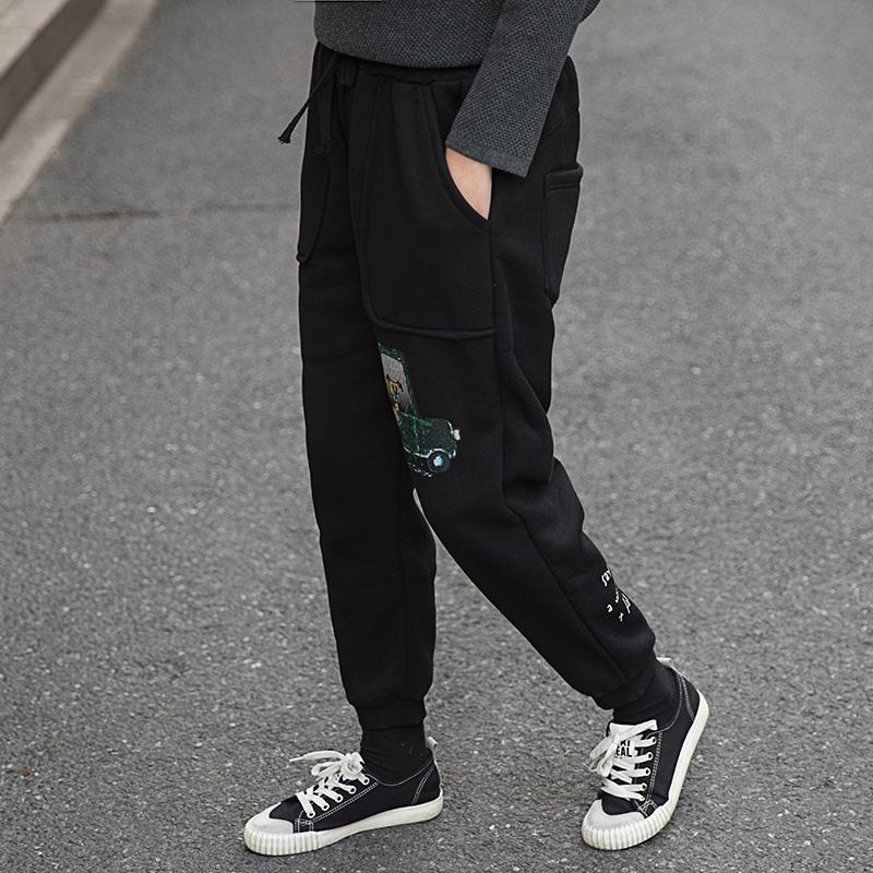 2017冬季新款加绒加厚休闲收口运动裤显瘦哈伦裤女士百搭卡通卫裤  均码 发货周期:一般在付款后2-90天左右发货,具体发货时间请以与客服协商的时间为准