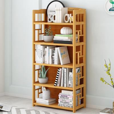 幽咸家居 落地书架 置物架简易书柜桌上书架简约落地学生用楠竹小书架省空间