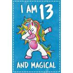 预订 Unicorn B Day: I am 13 & Magical Unicorn birthday thirte