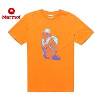 Marmot/土拨鼠户外运动中性轻量针织吸湿透气T恤