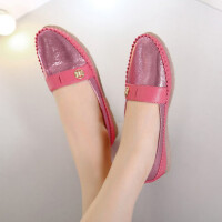 休闲鞋女单鞋秋季新款舒适圆头平底鞋软底拼色休闲女鞋