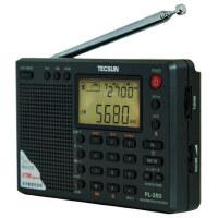 德生 PL-380 全波段数字解调立体声收音机 英语四六级考试用 老人学生适用 黑色 灰色银色的!