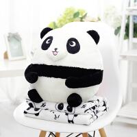 爱古德可爱大号熊猫公仔抱枕毯子枕头办公室居家午睡午休睡觉毯子1