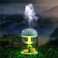 USB迷你加湿器家用静音孕妇婴儿空气净化床头微景观夜灯喷雾