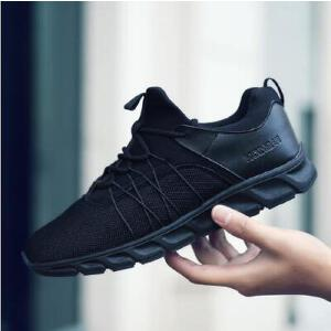 领舞者跑步鞋 男款时尚潮流四面弹布透气运动鞋
