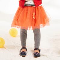 【秒杀价:140元】马拉丁童装女小童连裤短裙春装新款洋气假两件套设计儿童裤