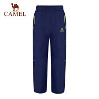 camel骆驼童装冬季儿童防风冲锋裤男女童户外徒步登山裤