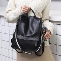 时尚百搭女士双肩背包2019新款韩版复古软皮包包女士双肩背包