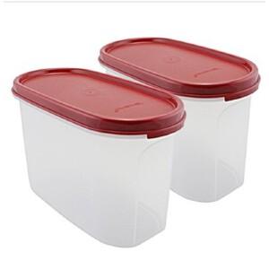 特百惠MM椭圆2号2件套 干货 储藏 保鲜盒 1.1L每个