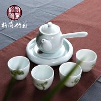 手绘功夫景德镇陶瓷制茶具套装干泡青瓷茶壶承户外便捷快客杯旅行