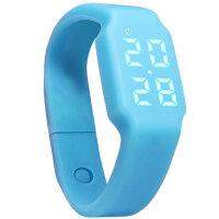 时尚智能手环表运动电子表潮流个性学生儿童男女LED手表 可礼品卡支付