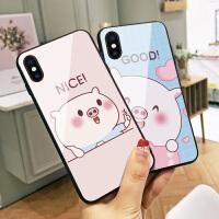 可爱nice小猪苹果8手机壳iphone Xs Max新年Xr卡通8plus玻璃7p硅胶边6网红女6splus个性创意