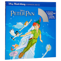 【中商原版】英文原版 彼得潘 书+CD 有声读物 Peter Pan Read-Along Storybook and