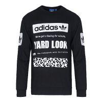 【全场满300减100】adidas Originals阿迪三叶草2017男子GRAPHIC CREW SW套头衫CD1717