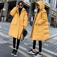 冬季韩版宽松外套中长款孕后期秋冬季孕妇棉衣棉袄