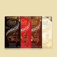 Lindt瑞士�lindor�心小�K�b巧克力100克牛奶榛仁黑白