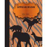 预订 Composition Notebook Wide Ruled Paper, Woodland Safari A