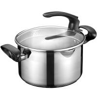 爱仕达汤锅ASD 20CM可立盖304不锈钢汤锅炖锅 煮锅焖烧锅锅具LG1720
