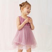 【秒杀价:179元】马拉丁童装女小童连衣裙夏装新款儿童洋气网纱拼接公主裙