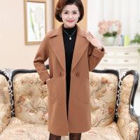 中年 秋天的外套气质妈妈装秋冬中长款加厚呢子大衣40岁50中年女春装宽松毛呢外套