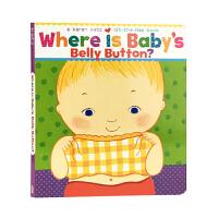 英文原版 纸板书 宝宝的肚脐在哪里?Where Is Baby\'s Belly Button?儿童启蒙 1-4岁