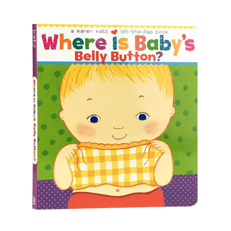 英文原版 纸板书 宝宝的肚脐在哪里?Where Is Baby's Belly Button?儿童启蒙 1-4岁
