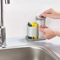 英国Joseph Joseph清洁液分装瓶清洁棉整理架 厨房清洁液分装瓶厨房卫生间收纳盒 80072