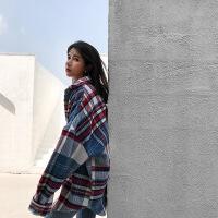 小��子��松格子毛呢外套女秋冬季中�L款�n版2018新款�W生呢子大衣20180912002 �t色