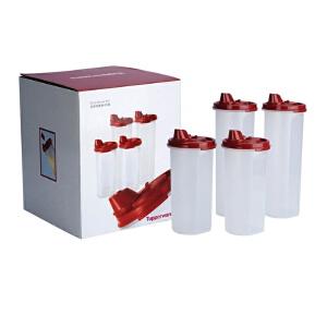 特百惠油壶四重奏套装 防漏油壶 调料壶  保鲜盒 2个大油壶2个中油壶